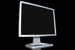 Monitor LCD. Isolated on black background Royalty Free Stock Photos