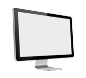 Monitor LCD del computer con lo schermo in bianco su bianco Fotografie Stock