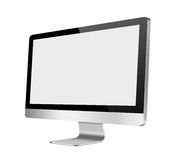Monitor LCD del computer con lo schermo in bianco su bianco Immagine Stock