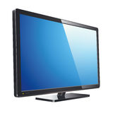 Monitor lcd, tv, realistic vector illustration Royalty Free Stock Photo