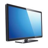 Monitor lcd, TV, realistische vectorillustratie Royalty-vrije Stock Foto