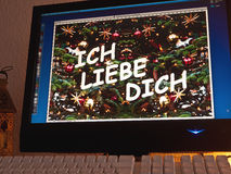 Monitor - light game - ich liebe dich Royalty Free Stock Images