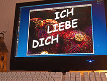 Monitor - light game - ich liebe dich Stock Photo