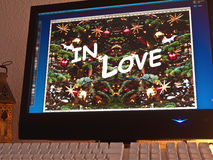 Monitor - light game - in love Stock Photography