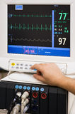 Monitor médico imágenes de archivo libres de regalías