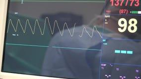 Monitor médico del ritmo cardíaco almacen de metraje de vídeo