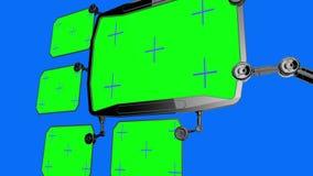Monitor medico digitale futuristico di HUD Futuro medico di concetto Schermo verde illustrazione di stock