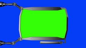 Monitor medico digitale futuristico di HUD Futuro medico di concetto Schermo verde illustrazione vettoriale