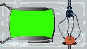 Monitor medico digitale futuristico di HUD Futuro medico di concetto Schermo verde royalty illustrazione gratis