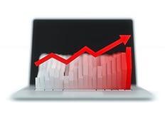 Monitor met histogram Royalty-vrije Stock Foto's