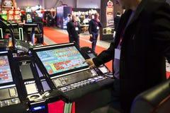 Monitor moderno della tavola delle roulette di Digital Fotografia Stock Libera da Diritti