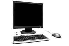 Monitor mouse keyboard Stock Photography