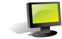 Monitor negro de la pantalla plana Foto de archivo