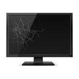 Monitor negro quebrado Imagen de archivo