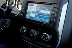 Monitor no painel do carro Imagens de Stock Royalty Free