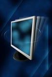 Monitor op een abstracte achtergrond stock illustratie
