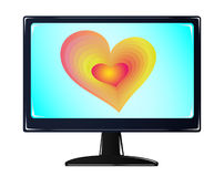 Monitor. Open technology bright modern royalty free illustration