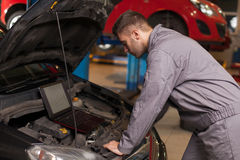 Monitor the Operation of the Engine Royalty Free Stock Photo