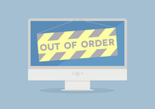 Monitor out of order Royalty Free Stock Photo