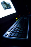 Monitor and PC Keyboard Stock Photography