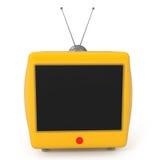 Monitor plano retro con estilo del LCD Imagen de archivo