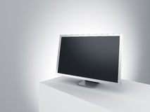 Monitor on a podium. Royalty Free Stock Photos