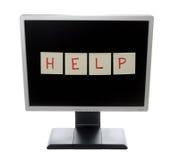 monitor pomocy Obraz Royalty Free