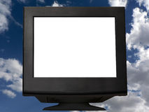 Monitor preto Foto de Stock Royalty Free