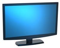 Monitor preto da tevê do Lcd no fundo branco. Foto de Stock Royalty Free