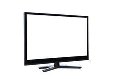 Monitor principale dell'affissione a cristalli liquidi TV su bianco Fotografia Stock Libera da Diritti