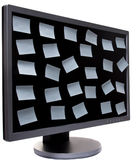 Monitor in proection Stock Photos