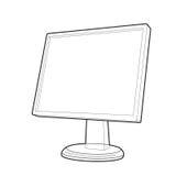 Monitor prospect line. Illustration vector monitor prospect. clip-art vector illustration