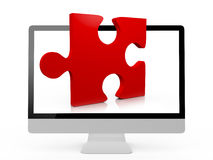 Monitor and Puzzle Stock Photography