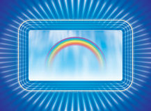 Monitor and rainbow Stock Images