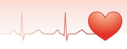 Monitor rojo del pulso del corazón Fotografía de archivo