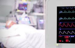 Monitor in the room. intensive care unit. Royalty Free Stock Image
