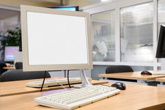 Monitor screen in office interior. Stock Photography