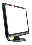Monitor screen with stickers Royalty Free Stock Image