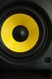 Monitor Speaker. Yellow in black monitor speaker Stock Images