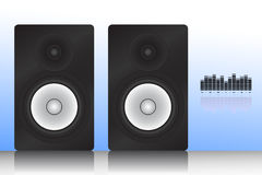 Monitor speaker. Vector illustration of monitor speaker with equalizer Stock Photography