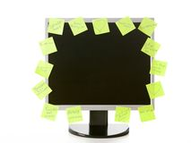 Monitor with stickers Royalty Free Stock Photography