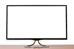 Monitor su fondo bianco Fotografia Stock