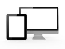 Monitor and Tablet Royalty Free Stock Photos