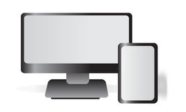Monitor and Tablet Stock Photography