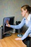 monitor tyłków dziewczyna Fotografia Stock