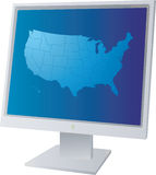Monitor us Stock Image