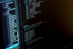 Monitor van IT ontwikkelaar royalty-vrije stock fotografie