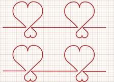 Monitor-Vector del corazón Fotografía de archivo libre de regalías
