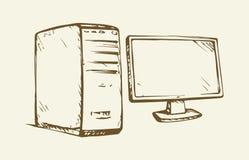 Monitor. Vector drawing Royalty Free Stock Photography