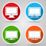 Monitor vector icons Royalty Free Stock Photography